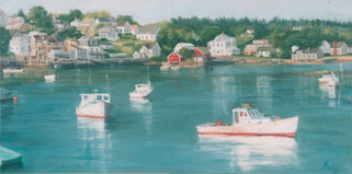 Peaceful Harbor II (Triptych)