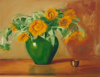 Sunflowers in a Provencal Pot