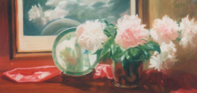 Peonies with Chinese Plate