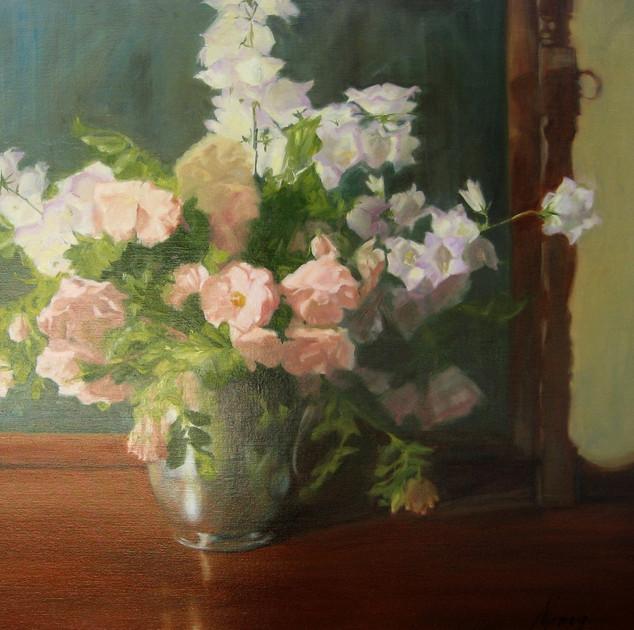 Roses and Campanula