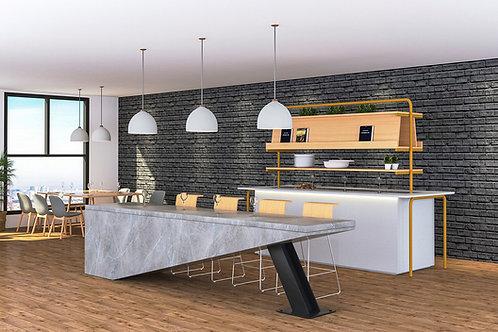 Elbe Canteen Furniture in Shining Grey & Oak