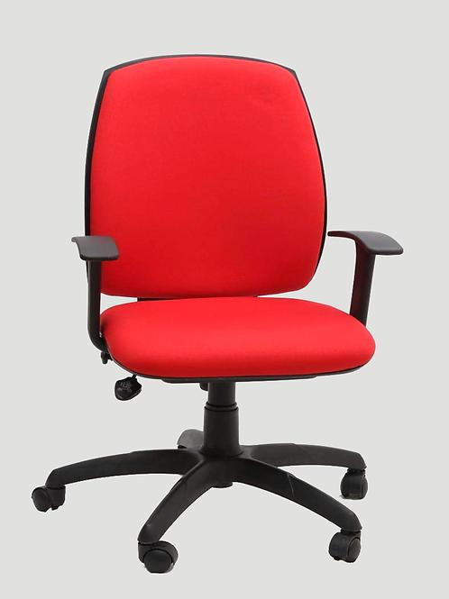 Kirill Medium Back Chair in Bright Red