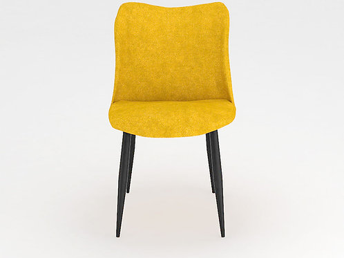 Carmella Mid Back Chair in Bold Yellow