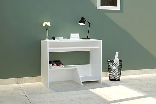 Liam Work From Home Table in Cream White