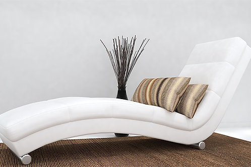 Diana Chaise Lounger In Greek White