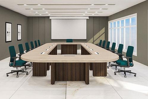 Platon Multi Seater Conference Table in Dark Walnut