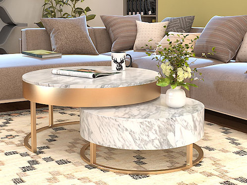 Camila Center Table in Copper Finish