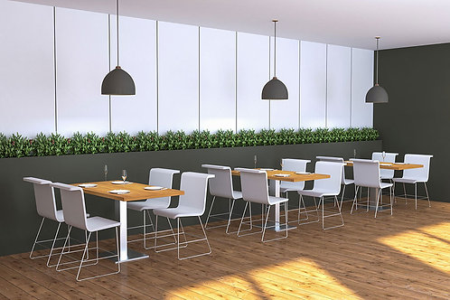 Neva Canteen Seating in Apple & White