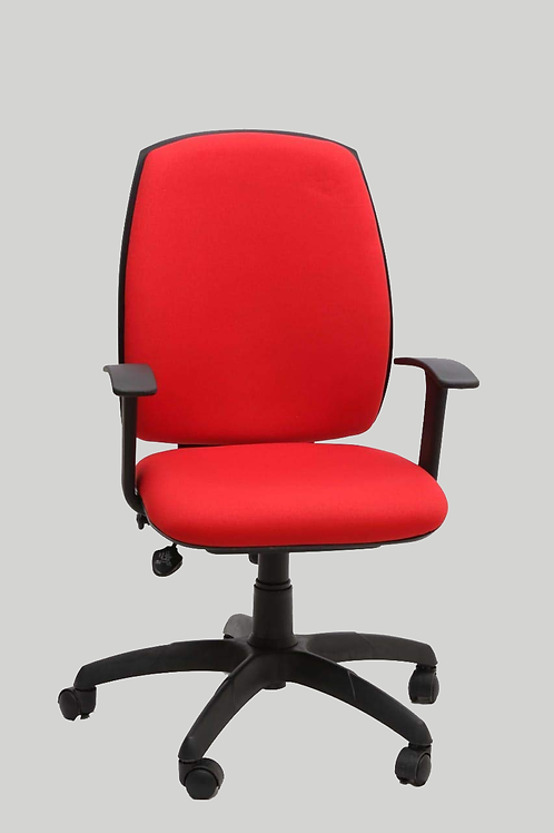 Myles High Back Chair in Bright Red