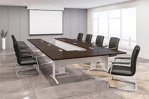 Theodor U Shaped Conference Table in Dark Walnut