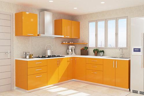 Frida L Shaped Kitchen in Sunshine Yellow