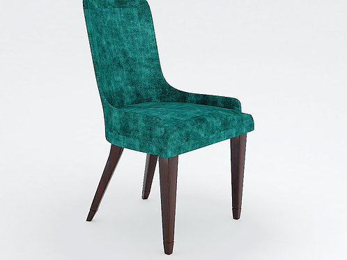 Castello High Back Chair In Patterned Green