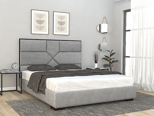 Alexis Queen Size Bed in Classic Grey