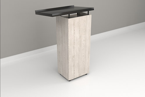 Arvid Podium in Textured White and Black