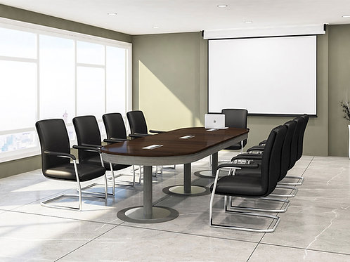 Diego Conference Table in Metallic Brown
