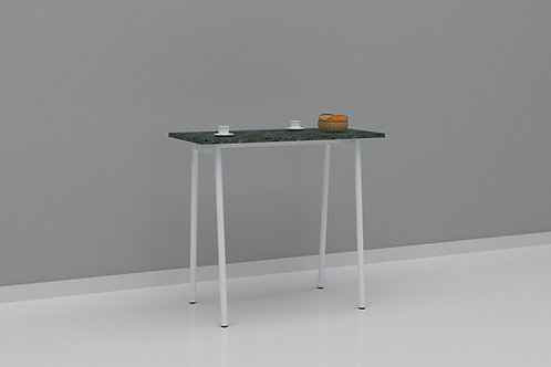 Sabine Cafe Table in Marble Green