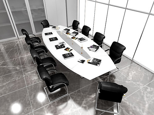 Ventura 10 Seater Conference Table in Athens Grey