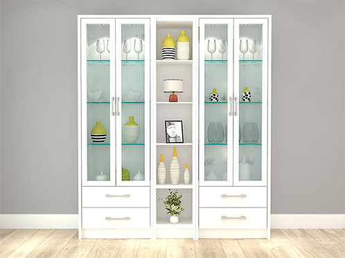 Viviana Display Cabinet In Ivory Colour
