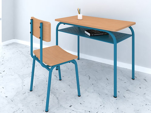 Jacobo School Desk in Golden Maple