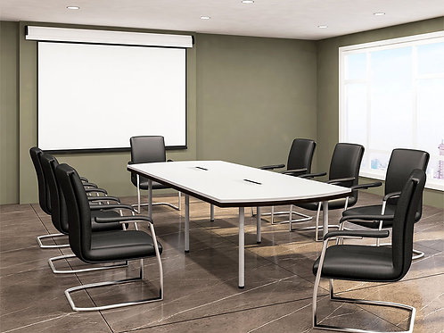 Novak Conference Table in Stylish Ivory