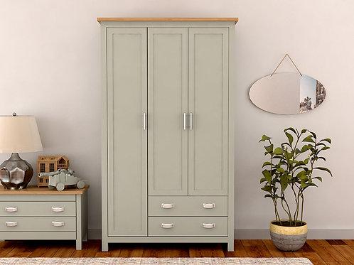 Sage 2 Door Wardrobe With External Drawers