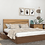 Thumbnail: Barak Double Bed With Storage in American Walnut