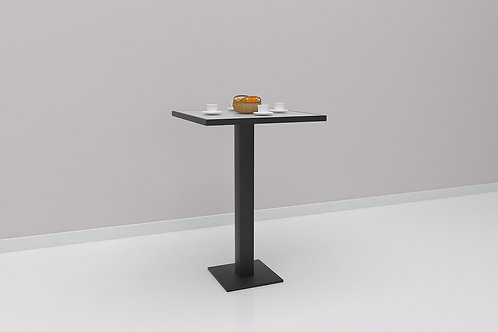 Clyde Cafe Table in White and Charcoal Grey