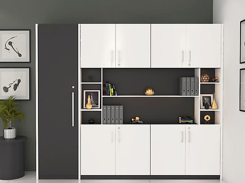 Orien Filing Cabinet in Grey & White
