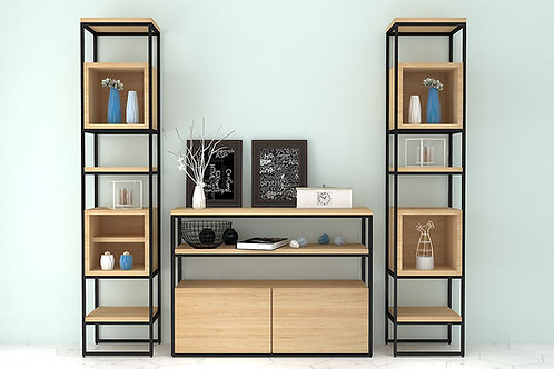 Amara Display Cabinet In Metallic Oak