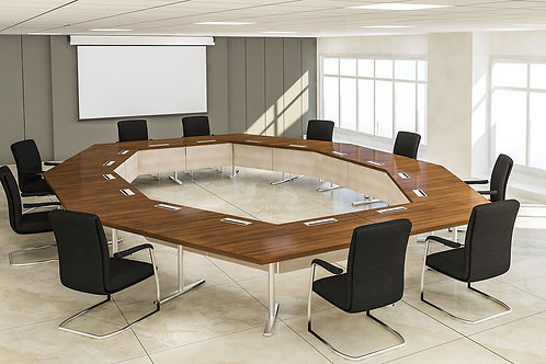 Socrates Octagonal Conference Table in Cherry
