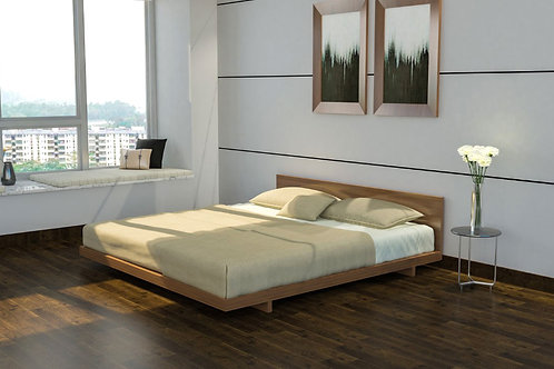 Alina Double Bed in Matt Walnut