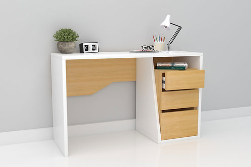 Mason Work From Home Table in Bright Oak