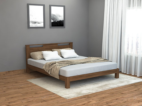 Amelia Queen Size Bed in Brown