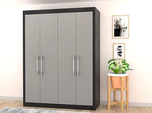 Danny 2 Door Wardrobe In Ebony - Grey