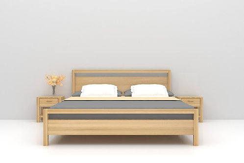 Ethan Double Bed in Classic Maple