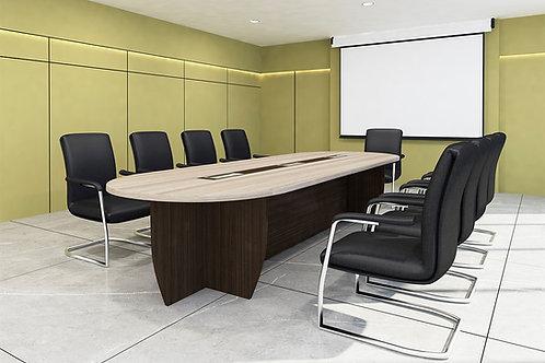 Savio Conference Table in Dark Walnut