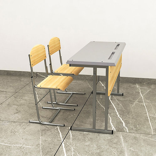 Eric School Desk in Stylish Birch