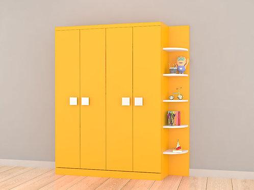 Gia Kid's Wardrobe In Sunshine Yellow Colour