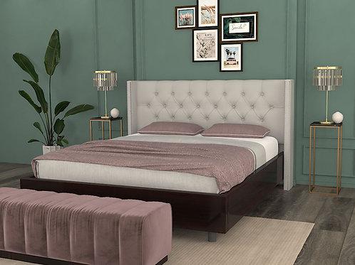 Antonio Double Bed with Storage in Dark Pine Finish