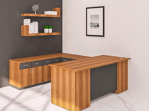 Darius Director's Table in Modern Walnut