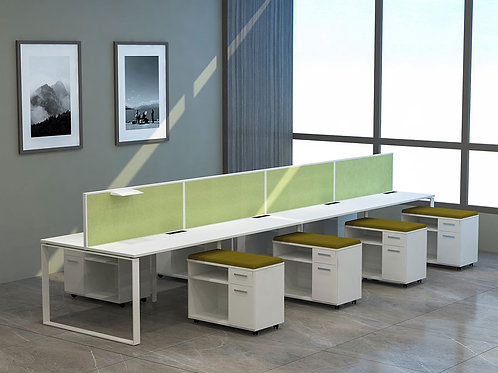 Cesar Workstation in Ivory and Green