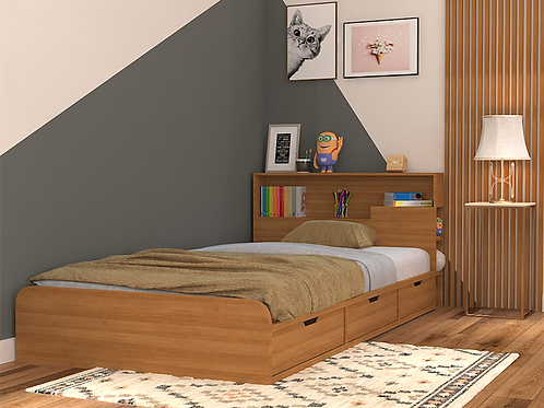 Toretto Single Bed in Garden Walnut