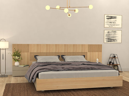 Samantha Double Bed with Storage in Apple Finish