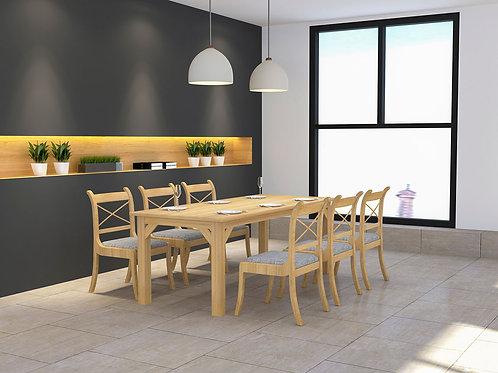 Turia 6 seater Canteen Furniture in Oak Finish