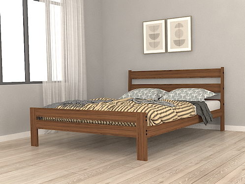 Osaka Queen Size Bed in American Walnut