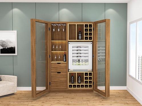 Brody Bar Cabinet in Garden Oak