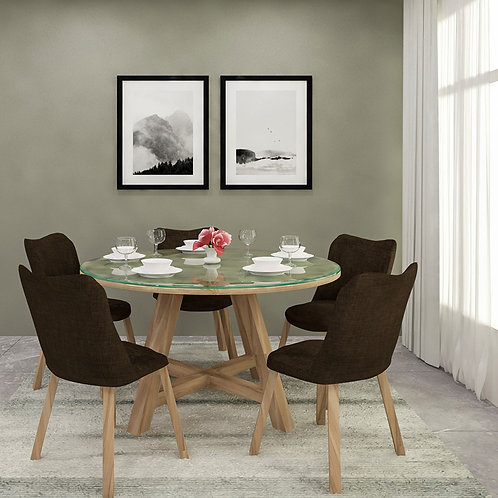 Dante Dining Table in Ash Blonde