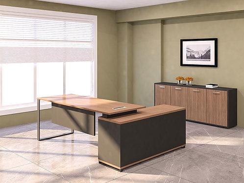 Perseus Director's Table in Walnut Burl