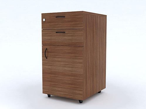 Aldo Pedestal Storage in Textured Walnut