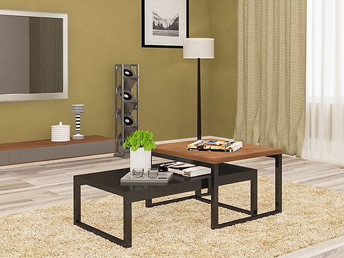 Piero Center Table in Metallic Ebony